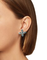 PAIR OF AQUAMARINE EARRINGS