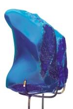 A BLUE AMBER SPECIMEN