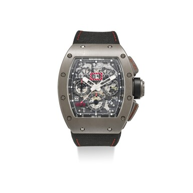 RICHARD MILLE   RM011 A TITANIUM SEMI-SKELETONIZED CHRONOGRAPH WRISTWATCH WITH DATE AND MONTH, MADE FOR FELIPE MASSA, CIRCA 2012