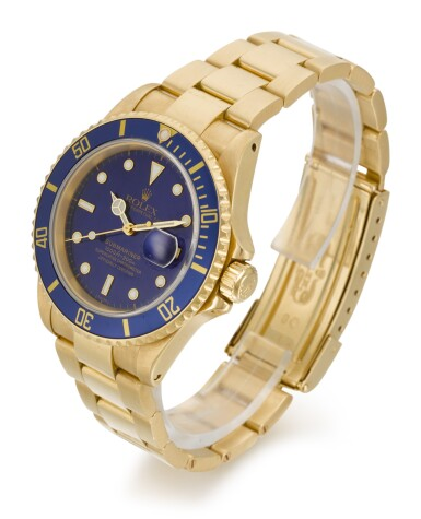 View 2. Thumbnail of Lot 8. ROLEX | SUBMARINER, REFERENCE 16618, YELLOW GOLD WRISTWATCH WITH DATE AND BRACELET, CIRCA 1999.