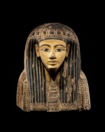 The Upper Part of an Egyptian Polychrome Wood Sarcophagus, 21st/early 22nd Dynasty, circa 1075-950 B.C.