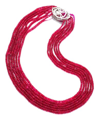 View 2. Thumbnail of Lot 28. MICHELE DELLA VALLE | SPINEL, RUBY AND DIAMOND NECKLACE.