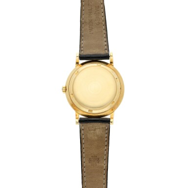 View 5. Thumbnail of Lot 228. Reference 3473  A yellow gold automatic wristwatch, Made in 1962.