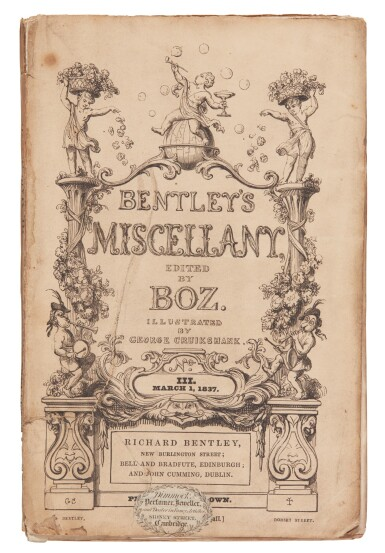 Dickens, The Extraordinary Gazette, 1837, Bentley's Miscellany, original state