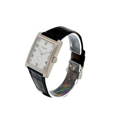 View 2. Thumbnail of Lot 160. PATEK PHILIPPE | REFERENCE 5010-012  A WHITE GOLD RECTANGULAR WRISTWATCH, MADE IN 2001.
