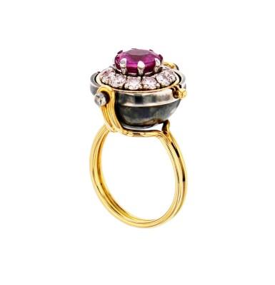 Elie Top, Pink Sapphire and Diamond Ring [Bague Saphir Rose et Diamants], 'Sirius'