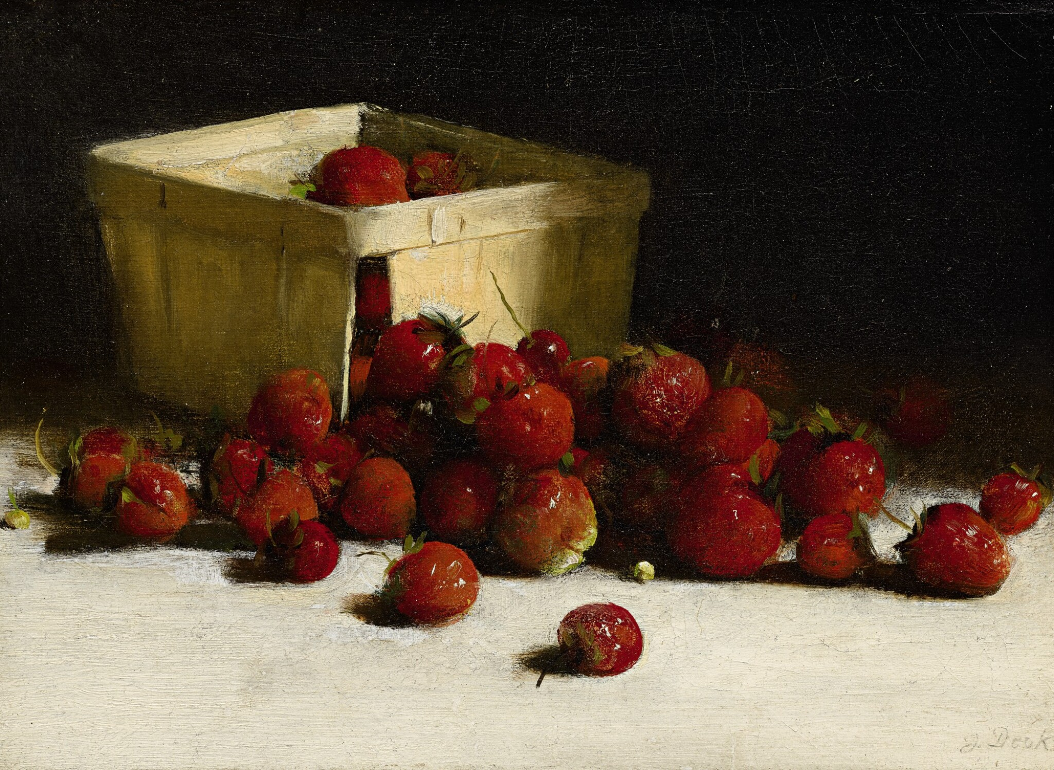 View full screen - View 1 of Lot 31. JOSEPH DECKER | STILL LIFE WITH STRAWBERRIES.