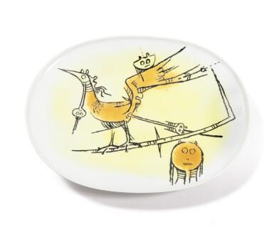 View 5. Thumbnail of Lot 108. WIFREDO LAM   DINNER SERVICE SET  [SERVICE DE TABLE].