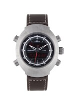 OMEGA   SPACEMASTER Z-33, REF 32592437901002 TITANIUM PERPETUAL CALENDAR CHRONOGRAPH WRISTWATCH WITH ALARM AND SECOND TIME ZONE CIRCA 2012