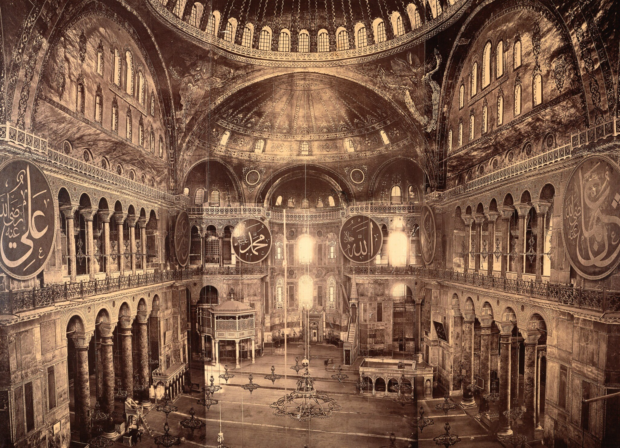 View full screen - View 1 of Lot 215. Constantinople. Large framed photograph of Hagia Sofia. c.1880s.