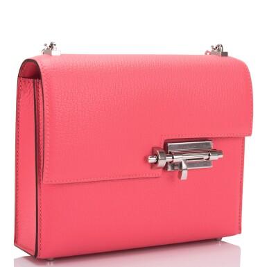 Hermès Rose Lipstick Verrou Chaine Mini Bag of Chevre Mysore Leather and Palladium Hardware