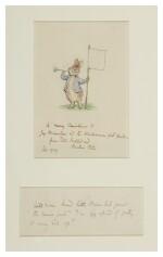 Potter, Beatrix   A splendid iconic drawing of Peter Rabbit