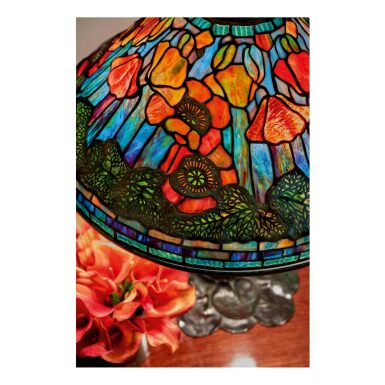"""View 2. Thumbnail of Lot 54. """"Poppy"""" Table Lamp."""