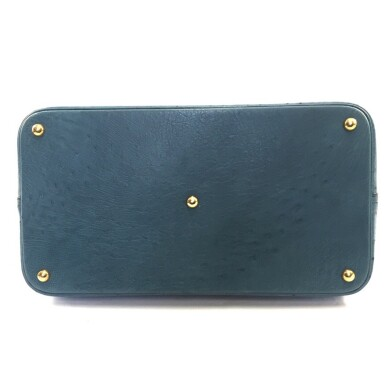 View 5. Thumbnail of Lot 343. Teal Bolide 45cm in Ostrich Leather with Gold Hardware, 1997.