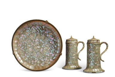 View 2. Thumbnail of Lot 755. Set of Two Ewers and a Basin.