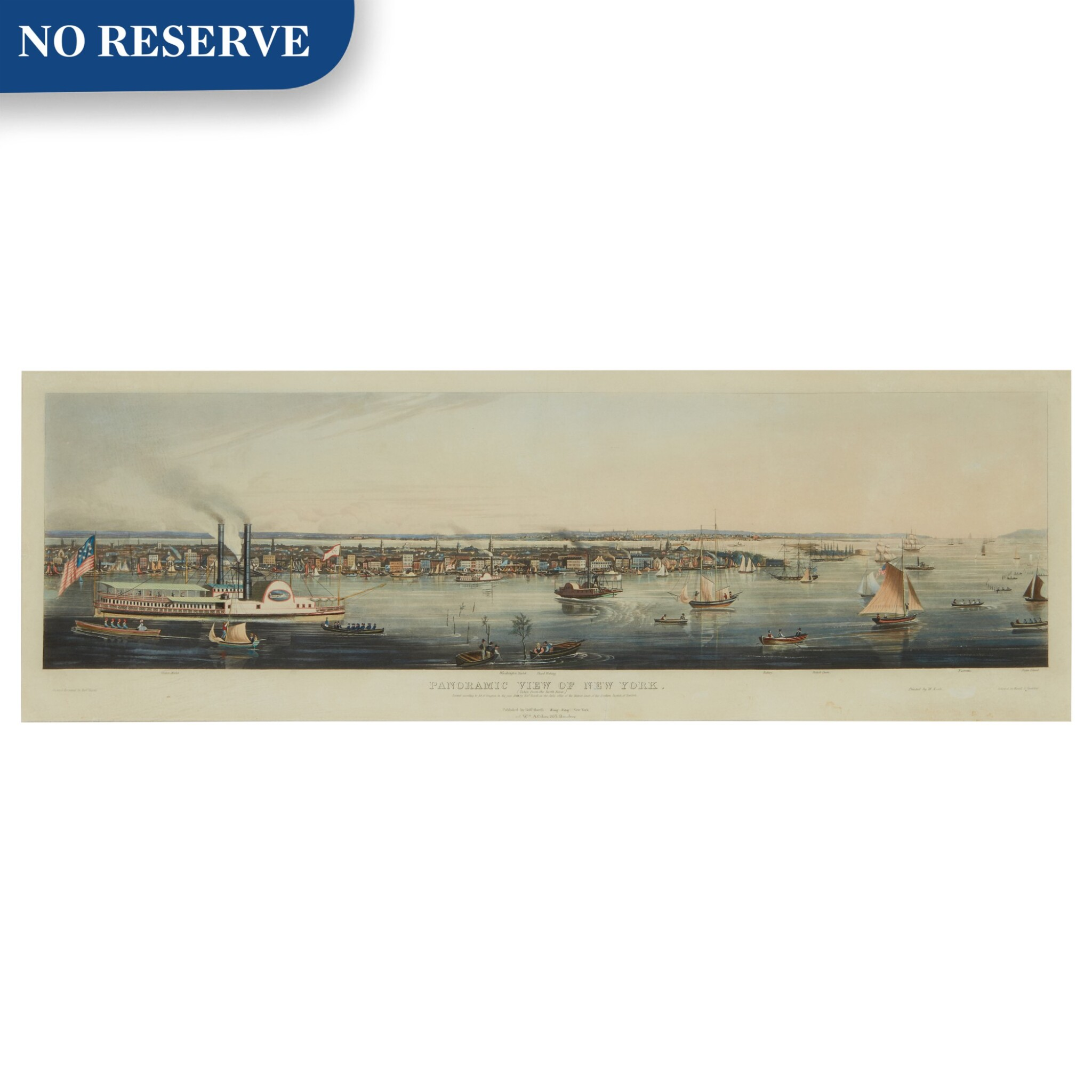 View full screen - View 1 of Lot 498. Panoramic View of New York Taken from the North River.