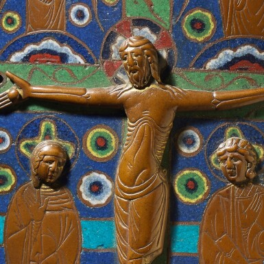 French, Limoges, circa 1200-1210 | Book Cover with the Crucifixion