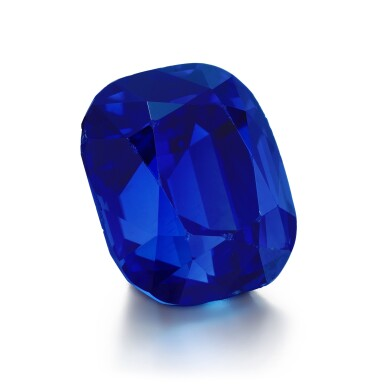 View 2. Thumbnail of Lot 139. Garrard & Co.   Sapphire and diamond ring, 1960s.