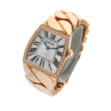 View 2. Thumbnail of Lot 19. Reference 2896 La Dona  A pink gold and diamond-set bracelet watch, Circa 2010.