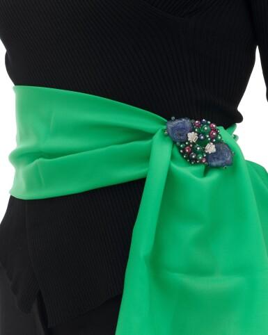View 6. Thumbnail of Lot 22. Sapphire, emerald, ruby and diamond Tutti Frutti brooch/pendant (Spilla/pendente con zaffiri, smeraldi, rubini e diamanti, Tutti Frutti).