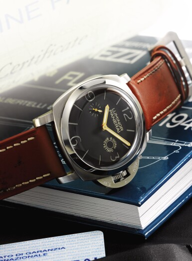 PANERAI | LUMINOR 1950 REFERENCE PAM 203, A RARE OVERSIZED STAINLESS STEEL LIMITED EDITION CUSHION FORM WRISTWATCH WITH 8 DAY POWER RESERVE CIRCA 2008