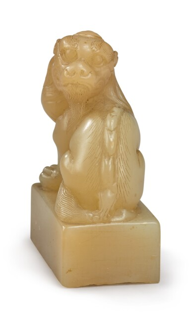 View 6. Thumbnail of Lot 1049. A 'MYTHICAL BEAST' SOAPSTONE SEAL BY YANG YUXUAN, 17TH CENTURY.