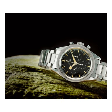 OMEGA |  SPEEDMASTER REF 2915-2 'BROAD ARROW', A STAINLESS STEEL CHRONOGRAPH WRISTWATCH WITH BRACELET, MADE IN 1958