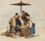 GEORGE CHINNERY | Four Men Playing a Board-game