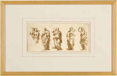 View 2. Thumbnail of Lot 95. Series of Studies After the Antique.