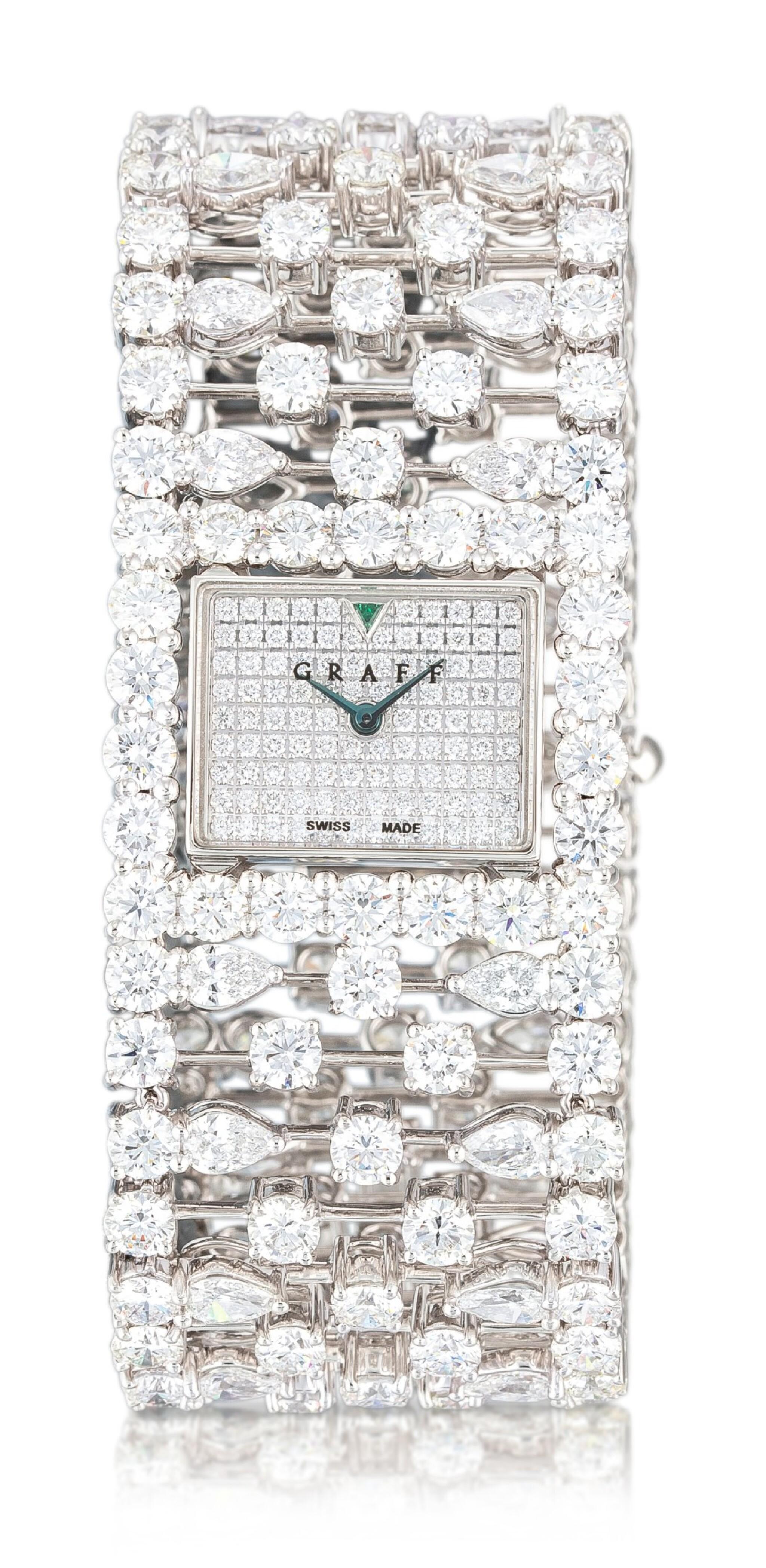 View 1 of Lot 1027. 'Graff Lace' Reference MA20WGDD, Limited Edition White Gold and Diamond-Set Wristwatch | 格拉夫| Graff Lace編號MA20WGDD,限量版白金鑲鑽石腕表,約2010年製.