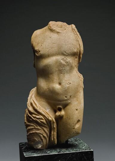 View 1. Thumbnail of Lot 36. A ROMAN MARBLE TORSO OF DIONYSOS, CIRCA 2ND CENTURY A.D..