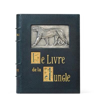 View 2. Thumbnail of Lot 128. Le Livre de la Jungle, 1919. Exceptionnel ex. avec laque de Dunand et plaque en argent de Jouve.