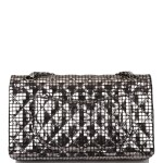 CHANEL |  MIRROR MEDIUM 2.55 REISSUE DOUBLE FLAP BAG OF CALFSKIN LEATHER WITH SILVER HARDWARE