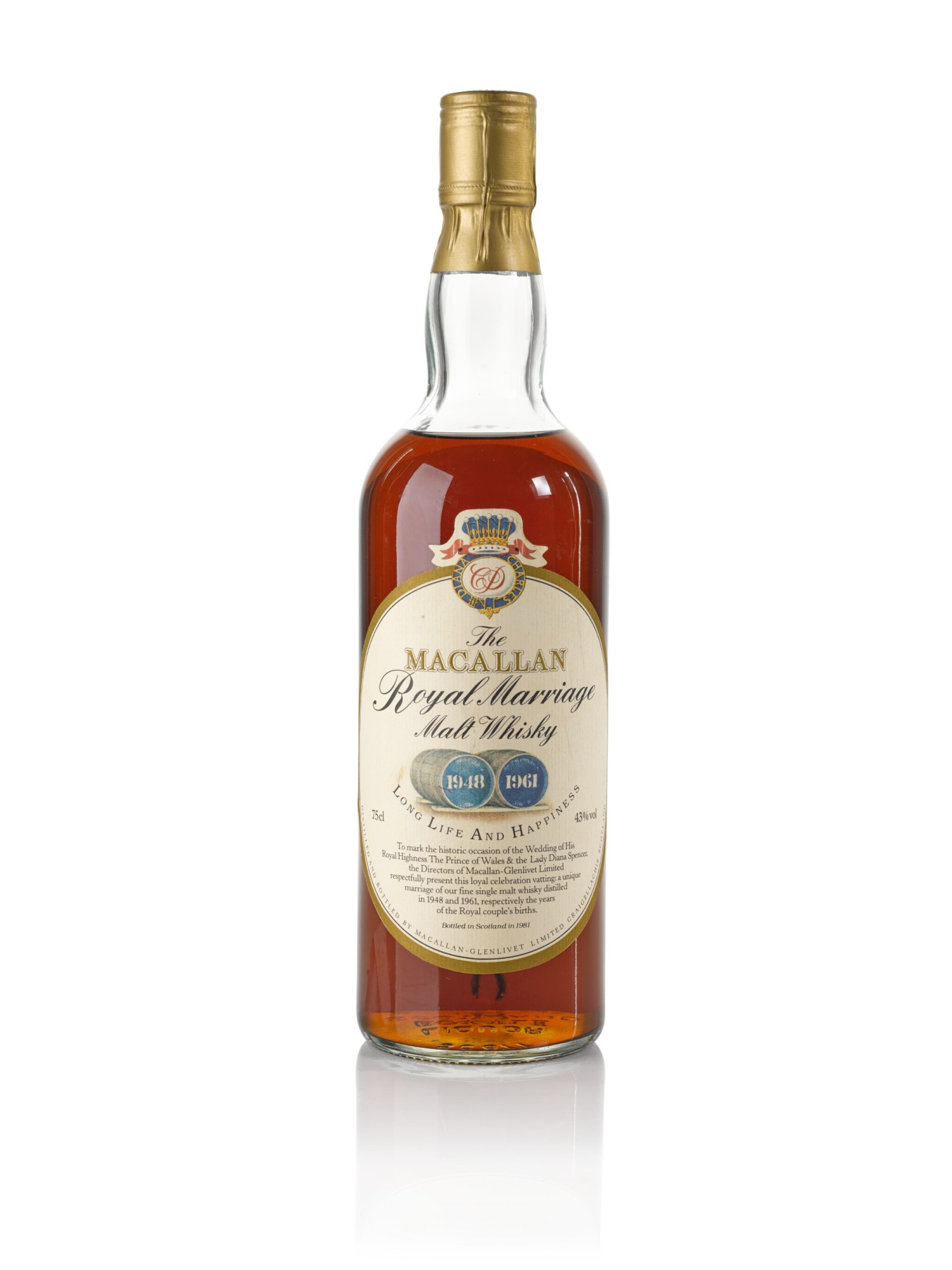View full screen - View 1 of Lot 16. The Macallan Royal Marriage 1948 and 1961 20 Year Old 43.0 abv NV .