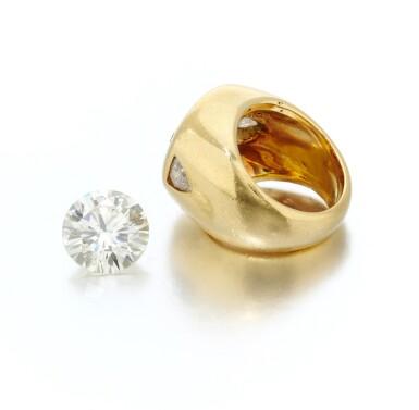 View 3. Thumbnail of Lot 78. Diamond and ring mounting (Anello con diamanti).