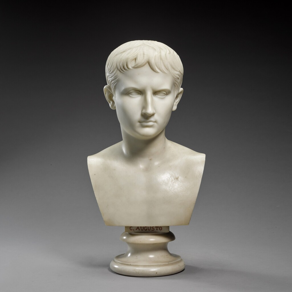 LEONE CLERICI (ACTIVE 19TH CENTURY) | BUST OF OCTAVIAN