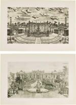 A SET OF TWENTY PRINTS OF PALACES, PAVILIONS AND GARDENS AT YUANMING YUAN | 巴黎、1977年 《郎世寧圓明園西洋樓》 一組二十幅 水墨紙本