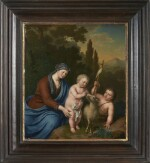 WILLEM VAN MIERIS | THE VIRGIN AND CHILD WITH THE INFANT SAINT JOHN THE BAPTIST IN A LANDSCAPE