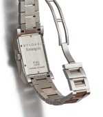 BULGARI   RETTANGOLO, REFERENCE RT45S, A STAINLESS STEEL WRISTWATCH WITH DATE AND BRACELET, CIRCA 2005