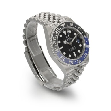 """View 3. Thumbnail of Lot 357. ROLEX   GMT-MASTER """"BATGIRL"""", REF 126710BLNR, STAINLESS STEEL DUAL-TIME WRISTWATCH WITH DATE AND BRACELET, CIRCA 2019."""