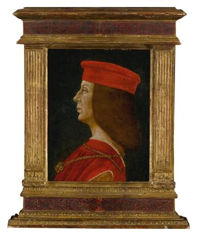 View 3. Thumbnail of Lot 9. Profile portrait of a condottiero.