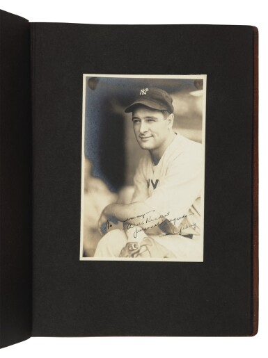 View 4. Thumbnail of Lot 145. The New York Yankees | Photo album of the 1931 New York Yankees, signed by 19 members of the team, including 10 future Hall of Famers, made for Yankees coach Jimmy Burke.