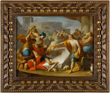 View 3. Thumbnail of Lot 44. ANDREA CELESTI  |  AMNON'S OUTRAGE ON BEHALF OF HIS SISTER, TAMAR;  ABSALOM ORDERS THE MURDER OF AMNON.