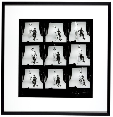 View 2. Thumbnail of Lot 214. TERRY O'NEILL |  DAVID BOWIE, DIAMOND DOGS, CONTACT SHEET, 1974.