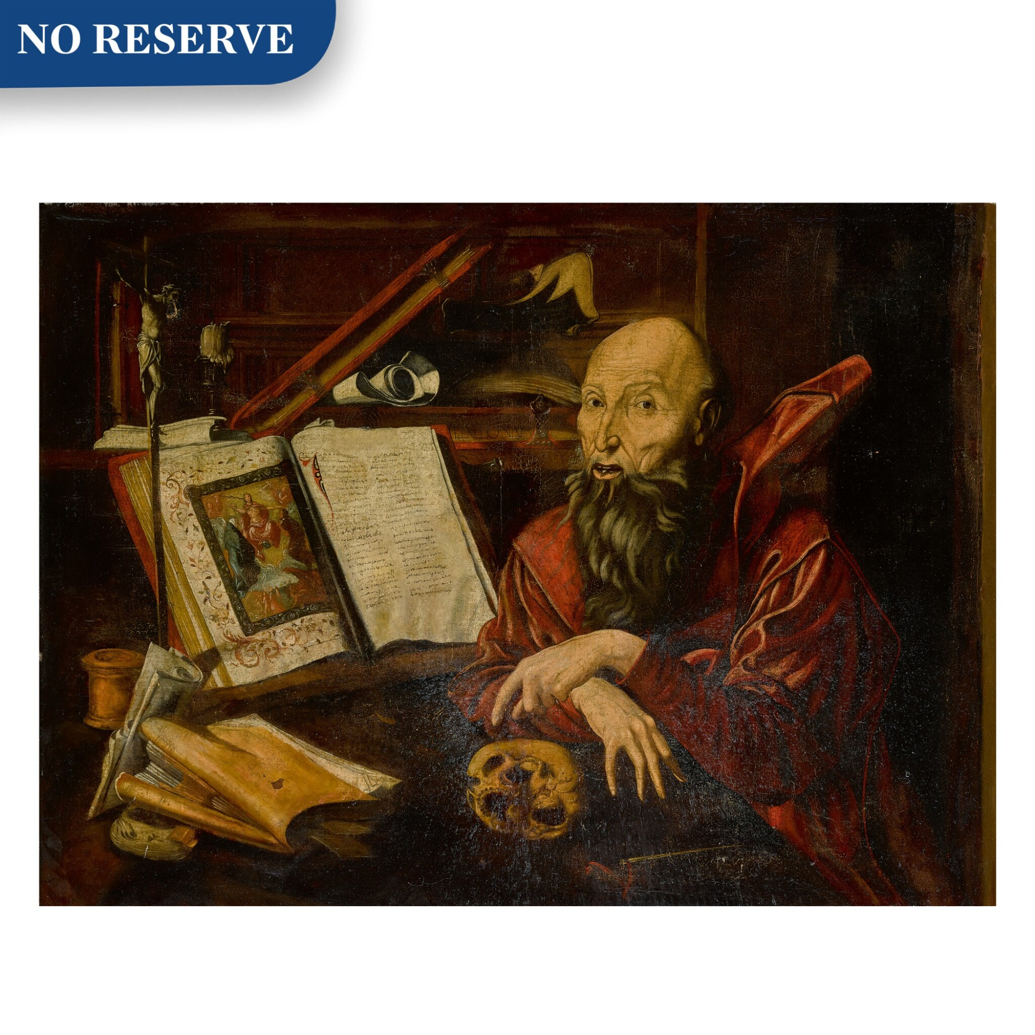 View full screen - View 1 of Lot 4. Saint Jerome in his study.