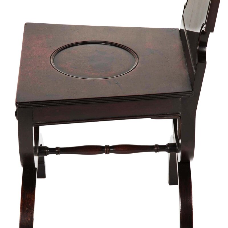 English Deer Head Medallion Hall Chair