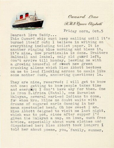 """View 1. Thumbnail of Lot 9. Sylvia Plath 