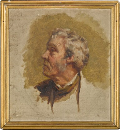 View 2. Thumbnail of Lot 40. Head study of a man in profile.