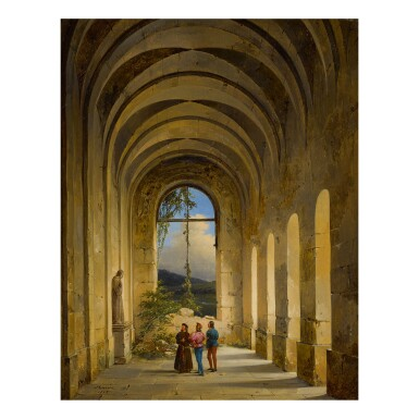 CHARLES CAIUS RENOUX | CONVERSATION IN A MEDIEVAL CLOISTER