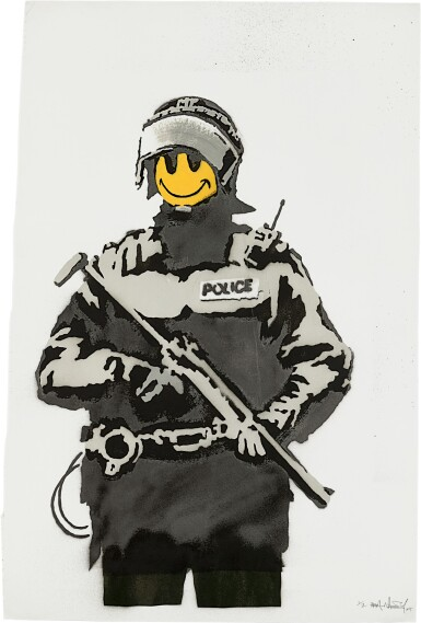 View full screen - View 1 of Lot 519. Banksy 班克斯 | Riot Cop.